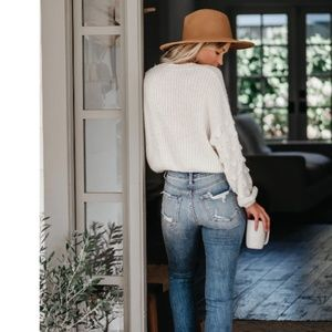 S. the Widow Sweaters - KIMBER Cropped Knit Sweater